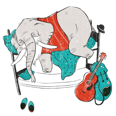 Your are as old as you feel - Elephant Illustration